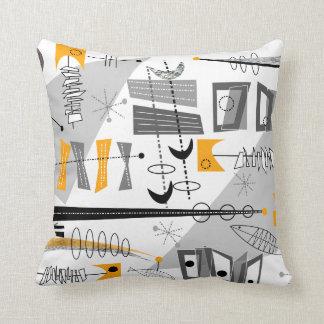 Atomic Era Inspired Abstract Cushion