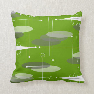 Atomic Era Inspired in Lime Cushion