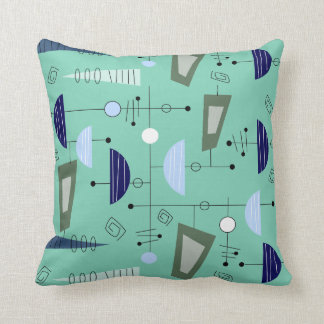 Atomic Era Inspired Pillow Abstract #100