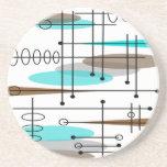 Atomic Era Mid-Century Modern Abstract Coasters