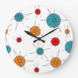 Atomic Era Planets Wall Clock