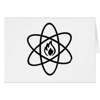 atomic fire greeting card