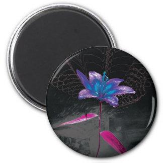 Atomic Flower 6 Cm Round Magnet