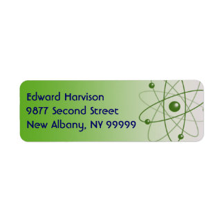 Atomic Glow Return Address Label