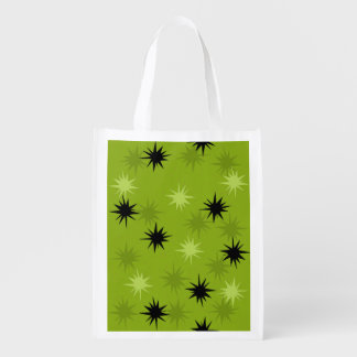 Atomic Green Starbursts Reusable Grocery Bag