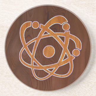 Atomic Inlay Sandstone Coaster