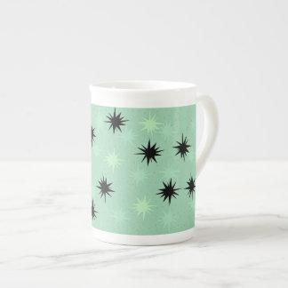 Atomic Jade and Mint Starbursts Bone China Mug