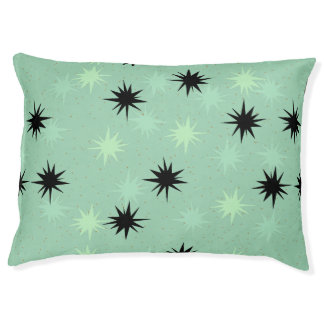Atomic Jade and Mint Starbursts Dog Bed