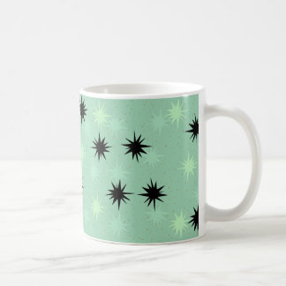 Atomic Jade and Mint Starbursts Mug