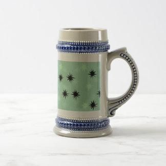 Atomic Jade and Mint Starbursts Stein