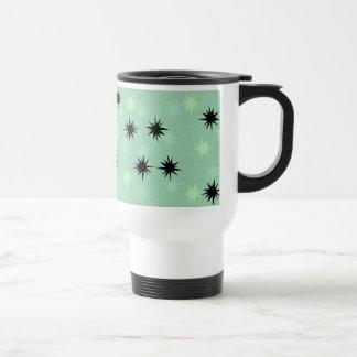 Atomic Jade and Mint Starbursts Travel Mug