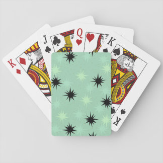 Atomic Jade & Mint Starburst Frosted Playing Cards