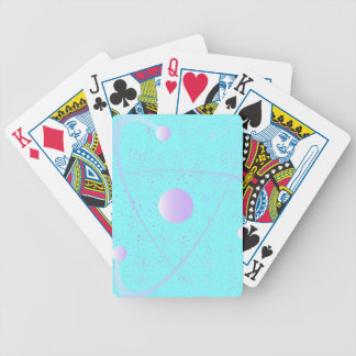 Atomic Mass Structure Background Bicycle Playing Cards
