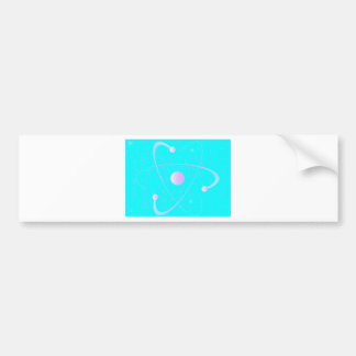 Atomic Mass Structure Background Bumper Sticker
