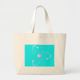 Atomic Mass Structure Background Large Tote Bag