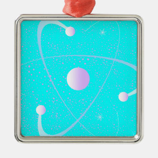 Atomic Mass Structure Background Metal Ornament