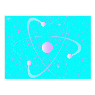 Atomic Mass Structure Background Postcard