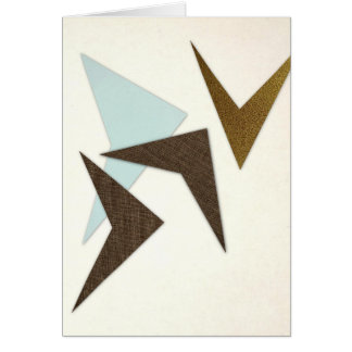 Atomic Mid Century Boomerang Greeting Card