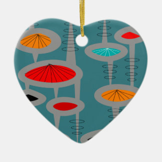 Atomic Mid-Century Inspired Abstract Ceramic Ornament