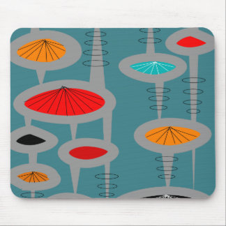 Atomic Mid-Century Inspired Abstract Mouse Pad