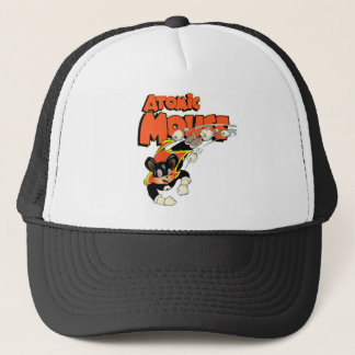 Atomic Mouse cute cartoon art superhero Trucker Hat