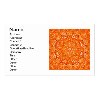 Atomic Orange Watercolor Mandala Double-Sided Standard Business Cards (Pack Of 100)