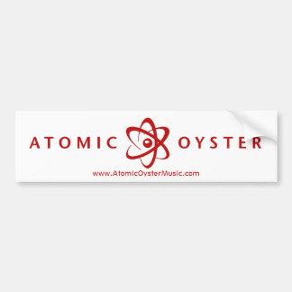 Atomic Oyster (alt logo) bumper sticker (red)