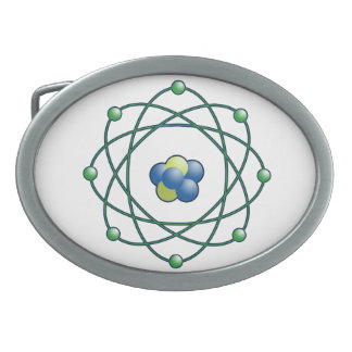 Atomic Particle Super Hero Oval Belt Buckle