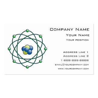 Atomic Particles Double-Sided Standard Business Cards (Pack Of 100)