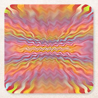 Atomic Pastels Square Paper Coaster