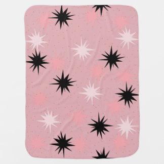 Atomic Pink Starbursts Baby Blanket