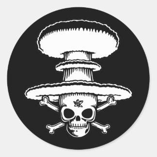Atomic Pirate Classic Round Sticker
