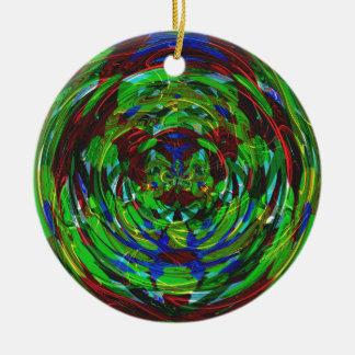 Atomic Reaction Kaleidoscope Ceramic Ornament