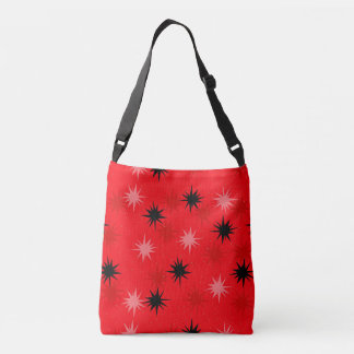 Atomic Red Starbursts All-Over Print Tote Bag