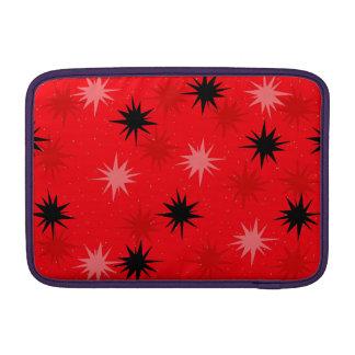 Atomic Red Starbursts MacBook Air Sleeve