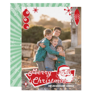 Atomic Retro Christmas Photo Card