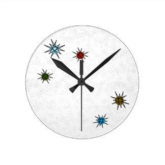 ATOMIC RETRO STARBURST CLOCK