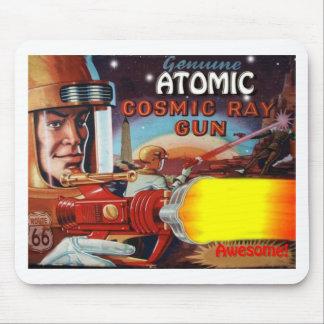 atomic space man ray gun mouse pad