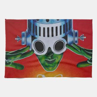 ATOMIC SPACEMAN HAND TOWELS