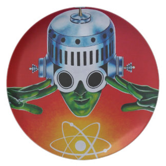 ATOMIC SPACEMAN PARTY PLATE