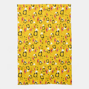 Atomic Spiders Tea Towel
