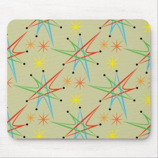 Atomic Starburst Retro Multicolored Pattern Mouse Pad
