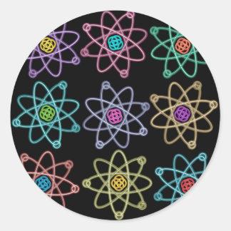 Atomic Structure Pattern Classic Round Sticker