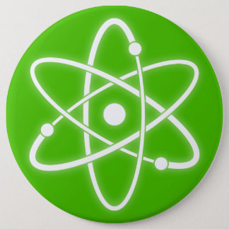 Atomic Symbol 6 Cm Round Badge