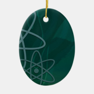 Atomic Teal Ceramic Ornament