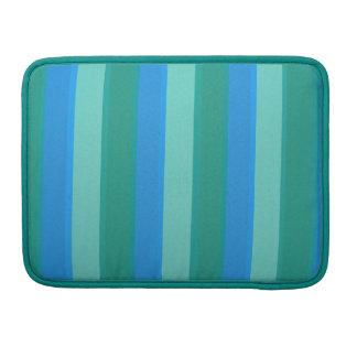 Atomic Teal & Turquoise Stripes MacBook Pro Sleeve