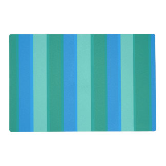 Atomic Teal & Turquoise Stripes Placemat