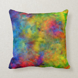 [Atomic Tie-Dye]  Psychedelic Rainbow Colors Cushion