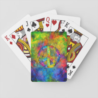 [Atomic Tie-Dye]  Psychedelic Rainbow Colors Playing Cards