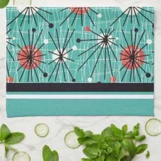 Atomic Turquoise Tea Towel